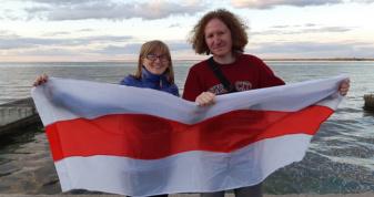 Наталія Пахайчук та Павел Свердлов на березі Київського моря під час Mezhyhirya Fest 2021