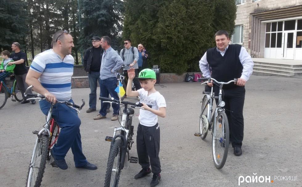 Міський голова В'ячеслав Поліщук теж узяв участь у велопробігу