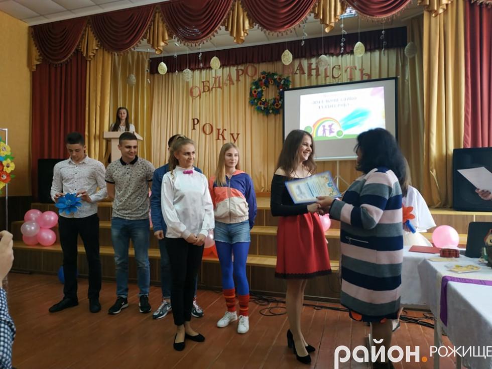 Першість у номінації«Талант року» отримала команда«Екобум», яка налічує шість школярів.