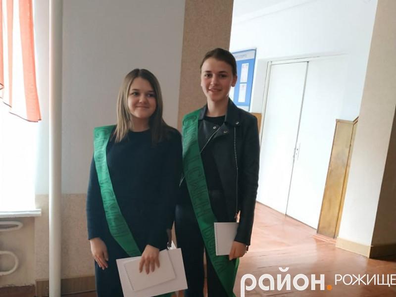 Переможниці у номінації «Спортсмен року» ІринаШварцкоп та Дарина Ходзінська.