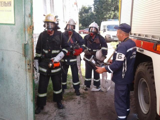У Рожищі рятувальники провели навчання