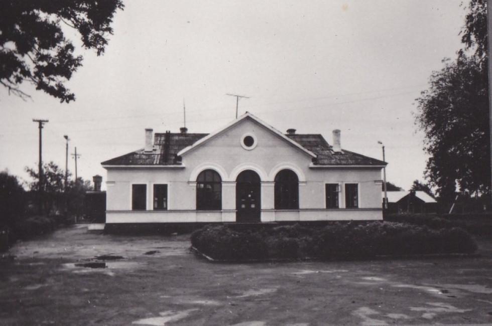 Вокзал у місті Рожище. 1980-ті роки.