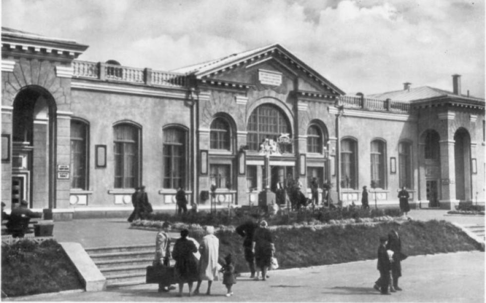 Луцький вокзал у 60-х роках ХХ століття.