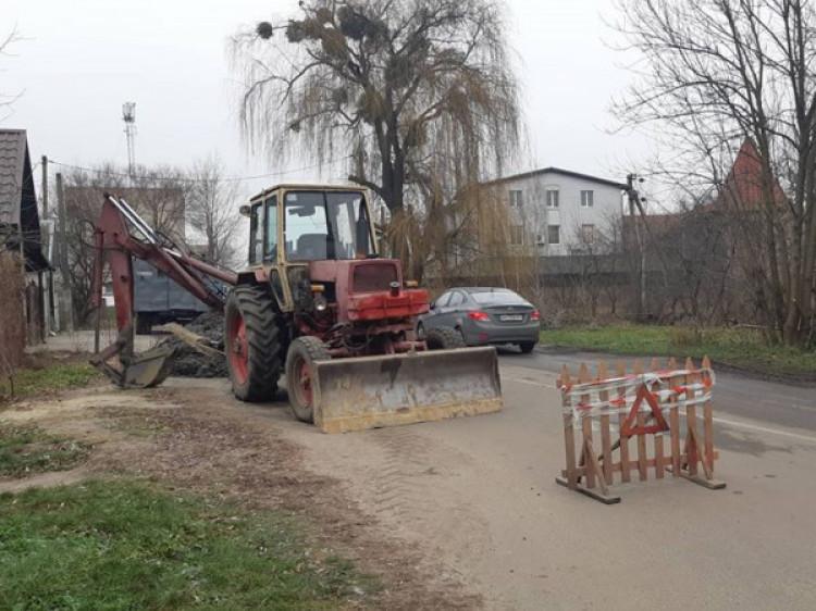 Ремонт тепломережі на вулиці Шевченка