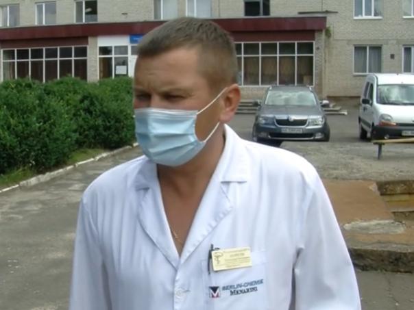 Заступник головного лікаря медзакладу Олександр Моргун
