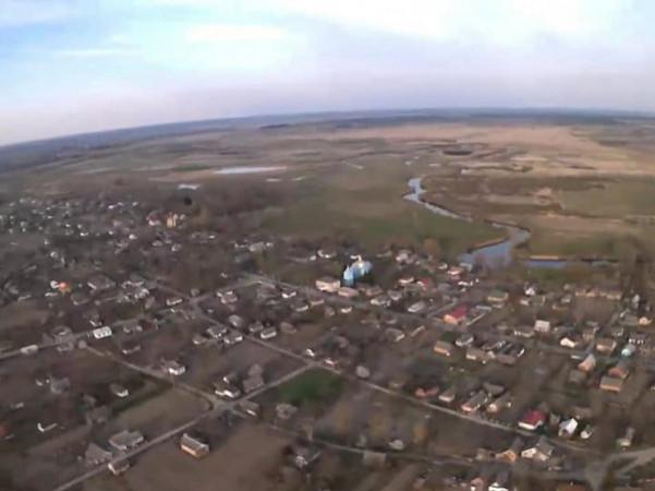 Село Сокіл з висоти