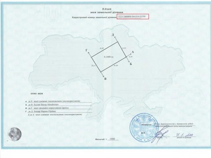 План меж земельної ділянки
