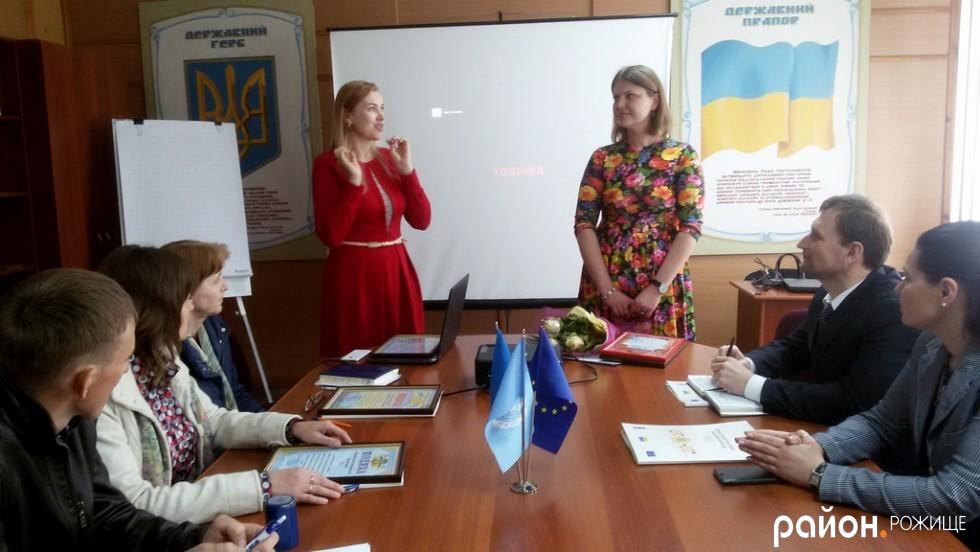 Координатори ресурсних центрів Ірина Бапко і Марія Печко