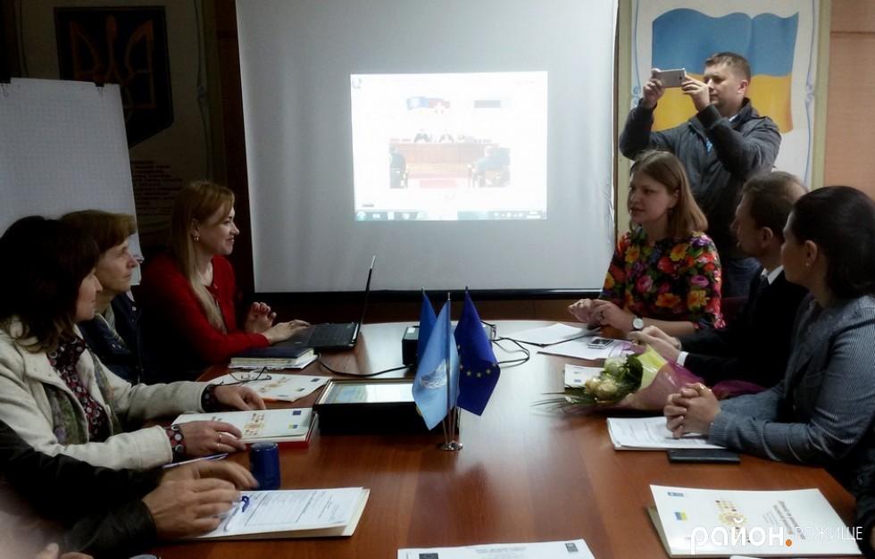 Координатор Марія Печко розповідає про результати проекту в районі.