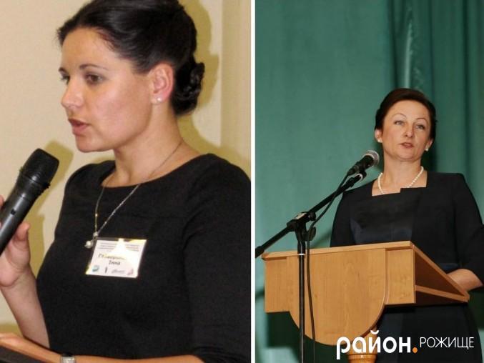 Зліва направо: Інна Гайворонська, Антоніна Клімчук.