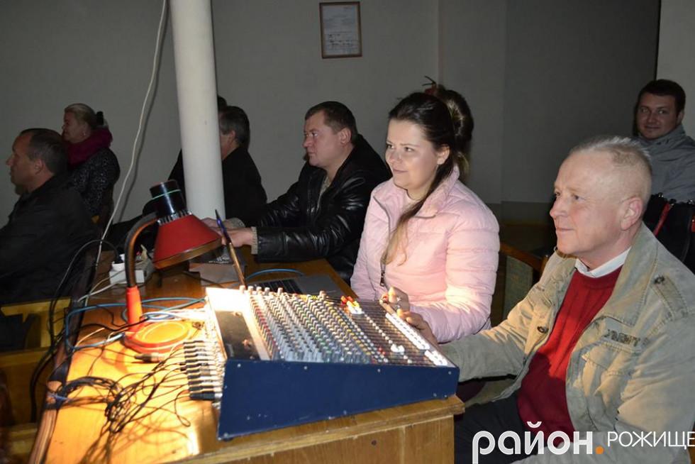 За пультом дружина Івана Ганзери, Ольга