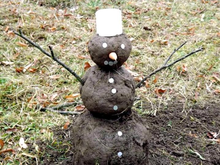 Яка зима, такий і сніговик :)