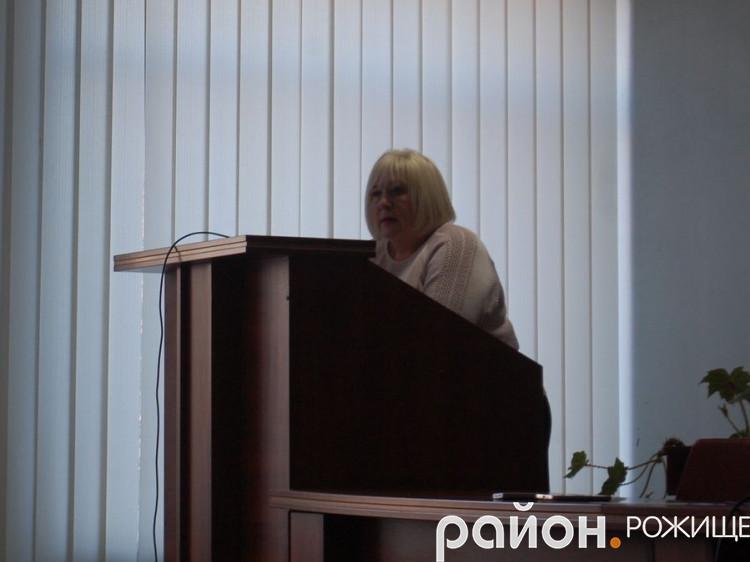 Начальниця управління фінансів райдержадміністрації Лілія Клебанська