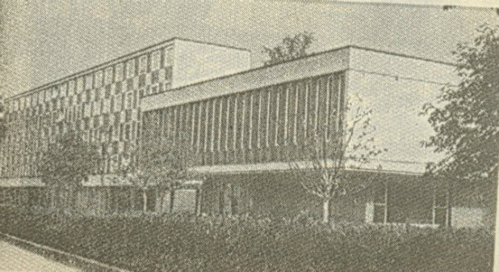 Будинок суду у Карлсруе, де КГБ було викрито в організації вбивства Лева Ребета та Степана Бандери