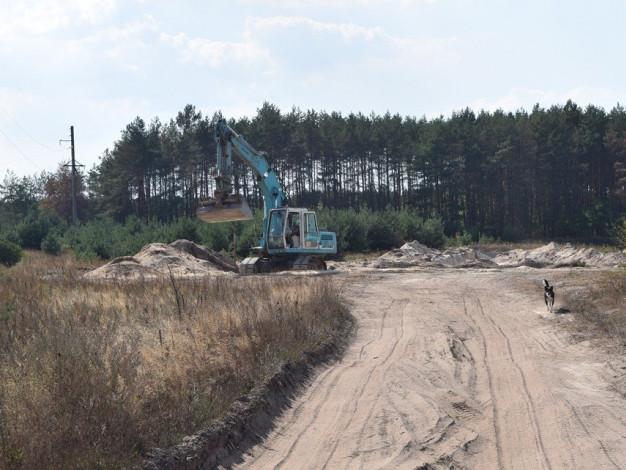 Кар'єр для видобування піску в Носачевичах Рожищенського району