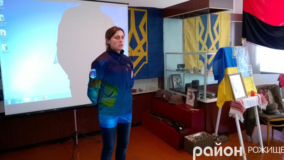 Керівник Рожищенського районного осередку «Національний Корпус» Ірина Ющук