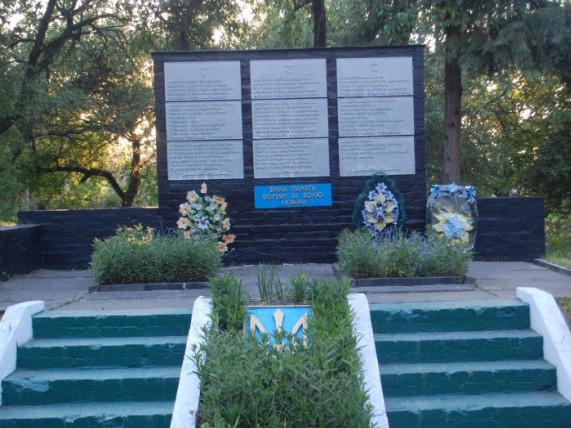 Пам'ятник загиблим односельчанам в Рудці-Козинській