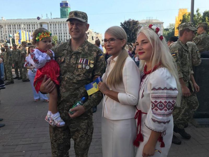 Юлія Тимошенко на параді до Дня Незалежності України