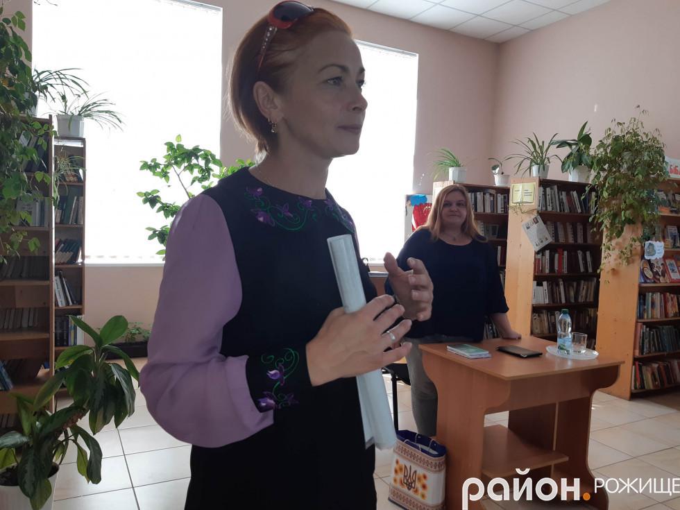 Керівник аматорського театру РД«Просвіта» Наталії Марценюк