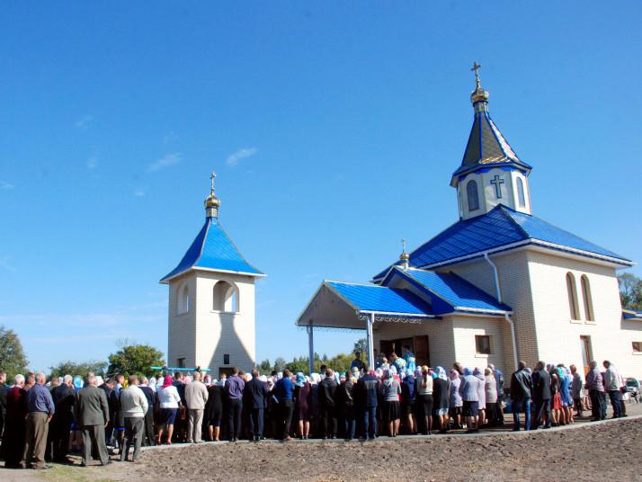 Освячення нового храму на честь ікони Божої Матері «Скоропослушниця» в селі Ясенівка