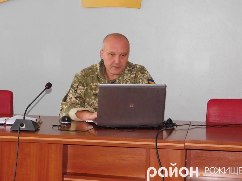 Олег Алєксєєв, військовий комісар Рожищенського РВК
