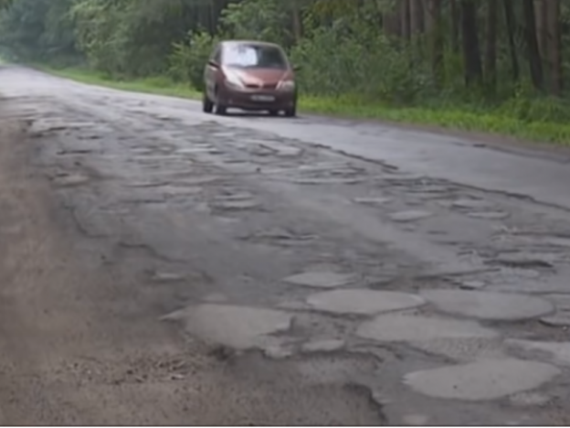 Дорога в селі Ольганівка