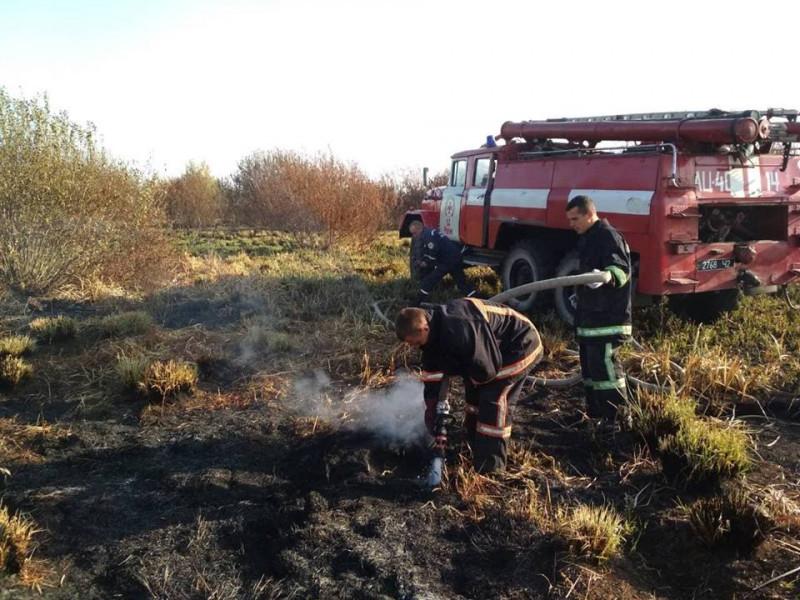 Волинські рятувальники за минулу добу ліквідували шість пожеж