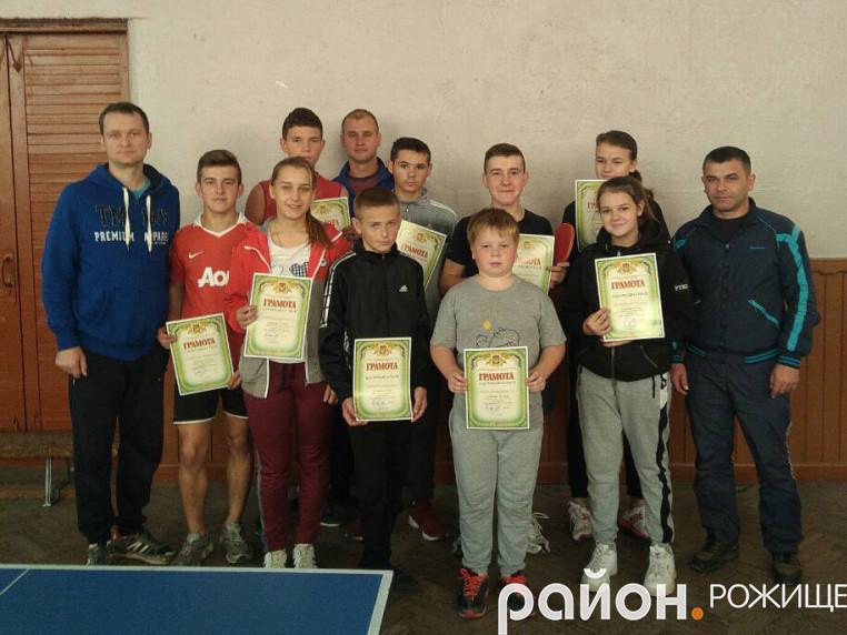 У рожищенській школі №1 відбувся турнір з настільного тенісу