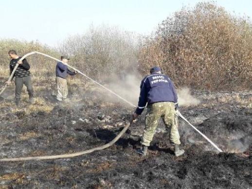 Поблизу села Берегове горять торфовища