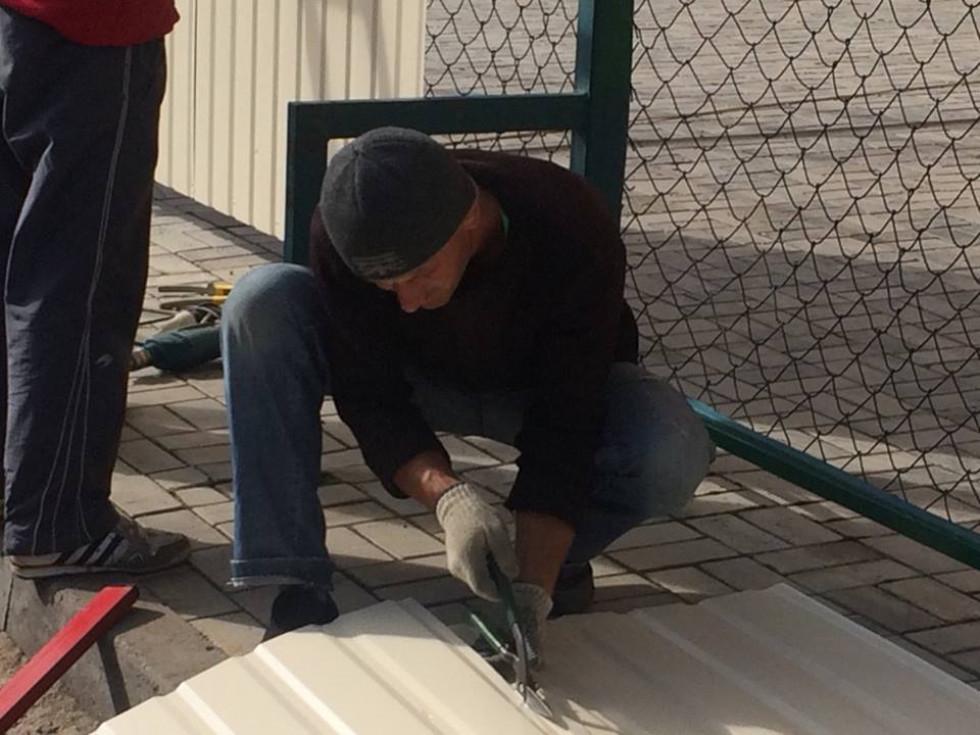 Технічний майданчик на стадіоні у Рожищі