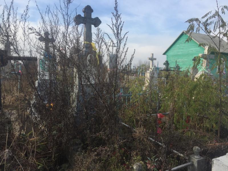 безлад на кладовищі у Рожищі