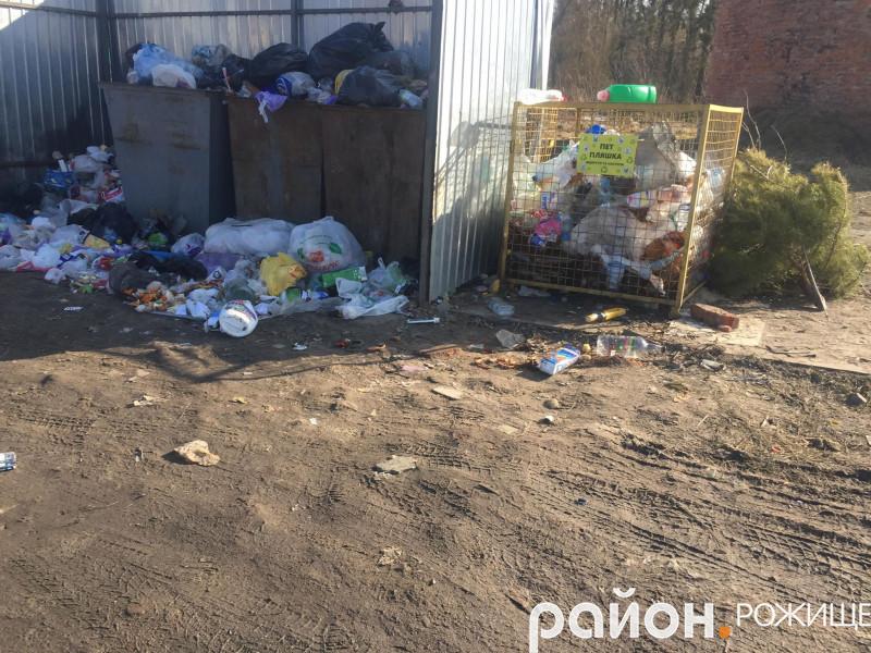 Смітники на вулиці Шевченка