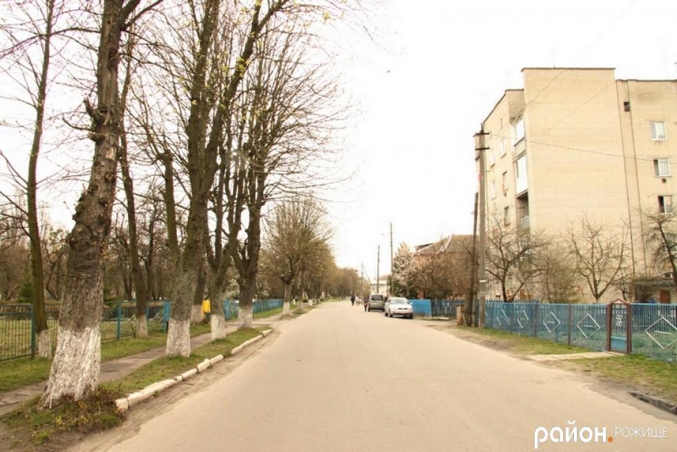 По вул. Грушевського перед Ветеринарним коледжем ані знаків, ані розмітки