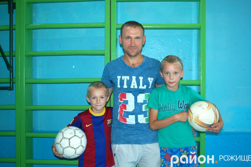 Василь Присяжнюк із синами
