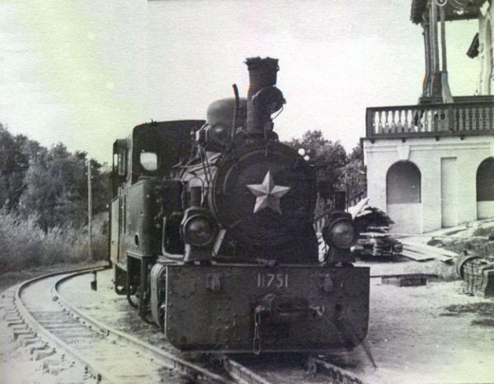Дитяча залізниця в Луцьку 1954 рік