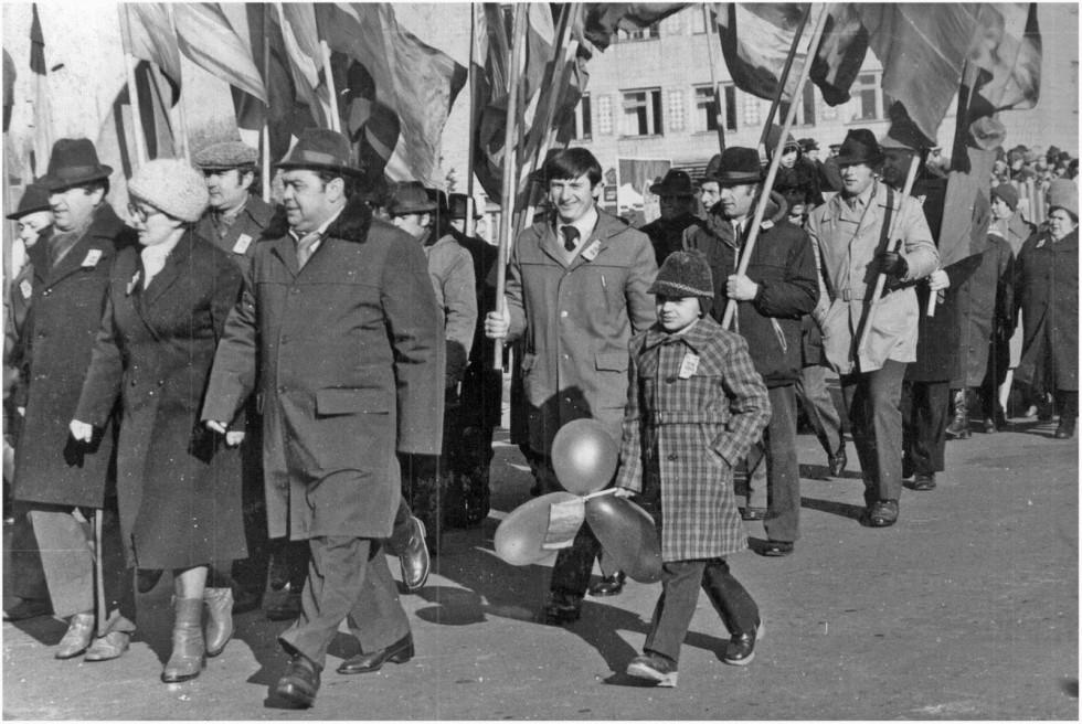 На святкові паради виходили з дітьми
