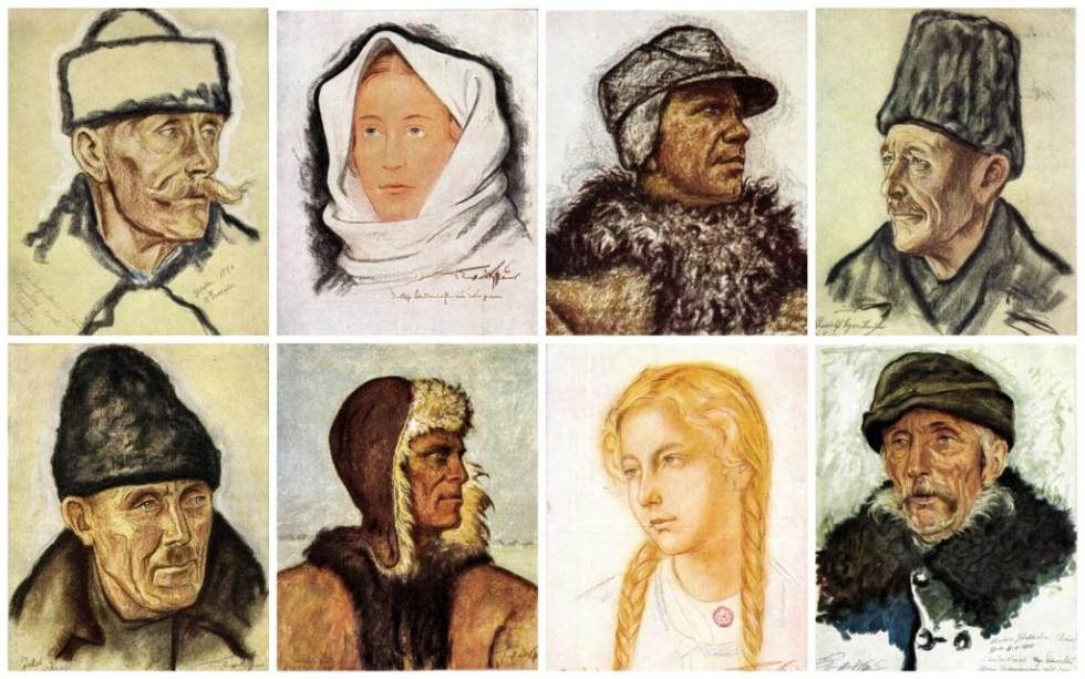 Серед солдатів, які супроводжували групу Volksdeutschen  з Волині і Галичини був художник та вчитель мистецтва Отто Енгельхардт-Кіффхаюзер. По дорозі він створював численні портрети репатрійованих, які згодом були опубліковані як «Книга Великого Походу»