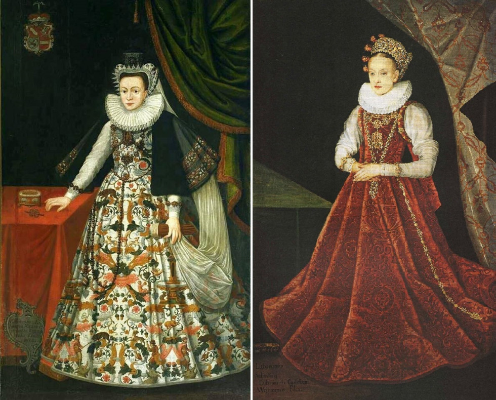 Портрети княгинь Острозької та Любомирської. Так виглядали русинські аристократки того часу.
