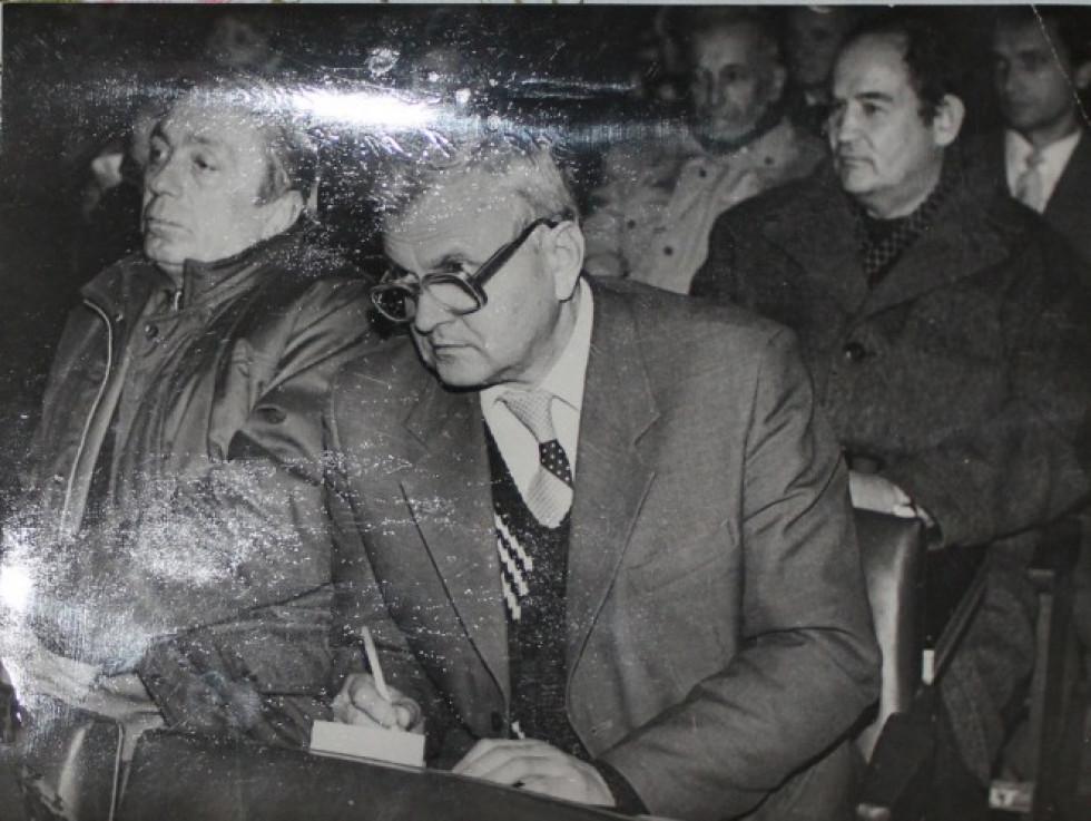 Василь Федчук на прес-конференції Леоніда Кравчука у 1994 році
